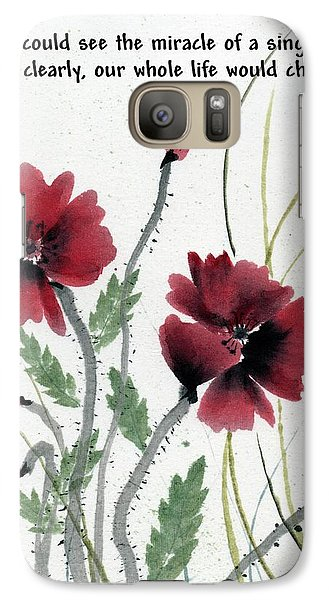 Galaxy Case featuring the painting Honor With Buddha Quote I by Bill Searle