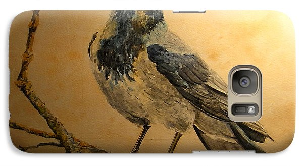 Hooded Crow Galaxy Case by Juan  Bosco