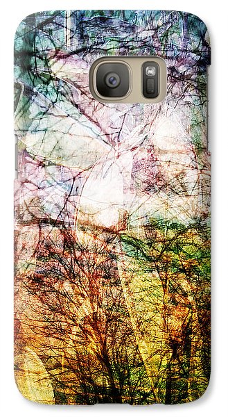 Galaxy Case featuring the mixed media Hoosier Country Opus 1 by Sandy MacGowan