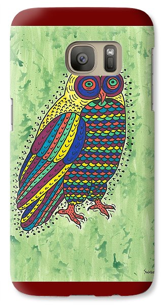 Galaxy Case featuring the painting Hoot Owl by Susie Weber