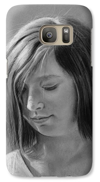 Galaxy Case featuring the drawing Hopeful by Glenn Beasley