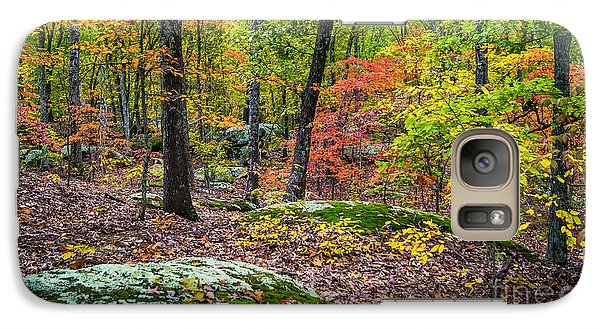 Galaxy Case featuring the photograph Hopscotch Through Autumn's Glory by Julie Clements
