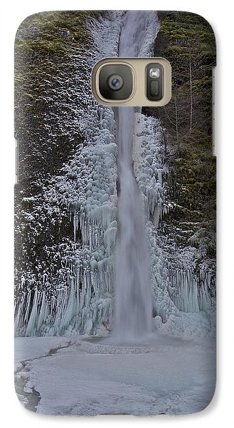 Galaxy Case featuring the photograph Horestail Falls Fva by Todd Kreuter