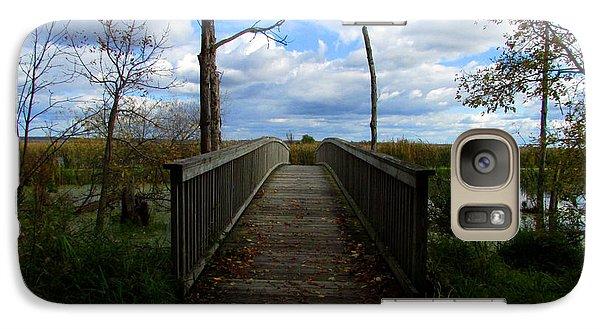 Galaxy Case featuring the photograph Horicon Bridge In Autumn by Kimberly Mackowski