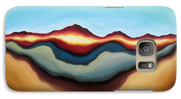 Galaxy Case featuring the painting Horizon Of Ages by Tiffany Davis-Rustam