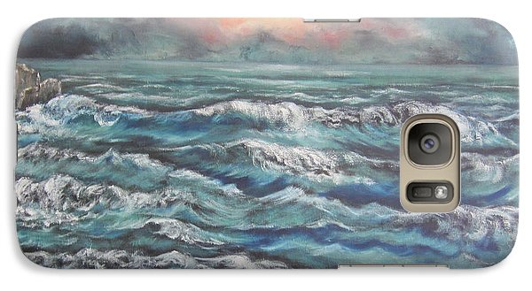 Galaxy Case featuring the painting Horizons 3 by Cheryl Pettigrew