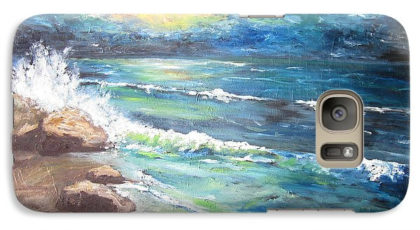 Galaxy Case featuring the painting Horizons by Cheryl Pettigrew