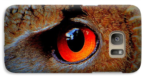 Galaxy Case featuring the painting Horned Owl Eye by David Mckinney