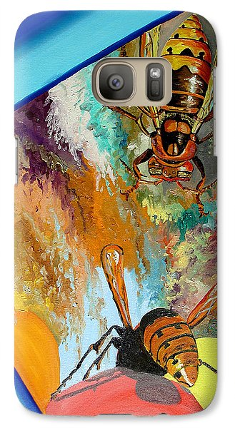 Galaxy Case featuring the painting Hornets by Daniel Janda