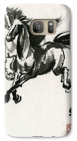 Galaxy Case featuring the painting Horse #1 by Ping Yan