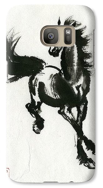Galaxy Case featuring the painting Horse #2 by Ping Yan