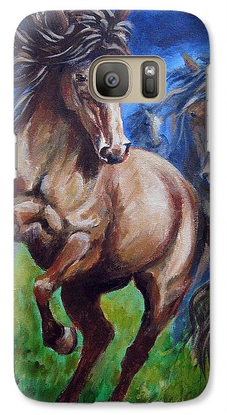 Galaxy Case featuring the painting Horse 4 by Carol Hart