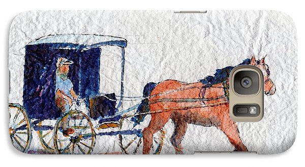 Galaxy Case featuring the painting Horse And Buggy by Mary Haley-Rocks