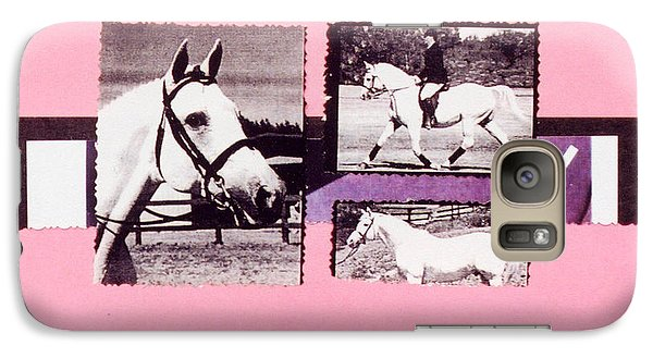 Galaxy Case featuring the photograph Horse And Rider C by Mary Ann  Leitch