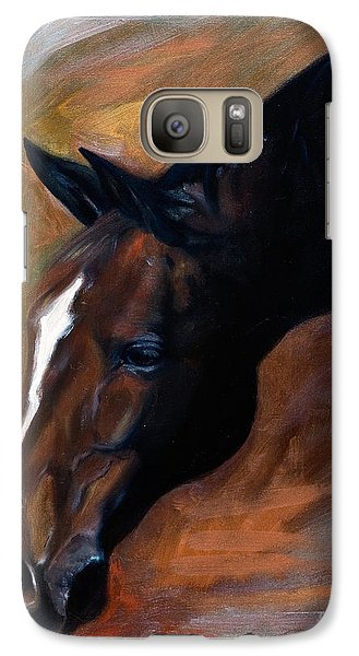 Galaxy Case featuring the painting horse - Apple copper by Go Van Kampen