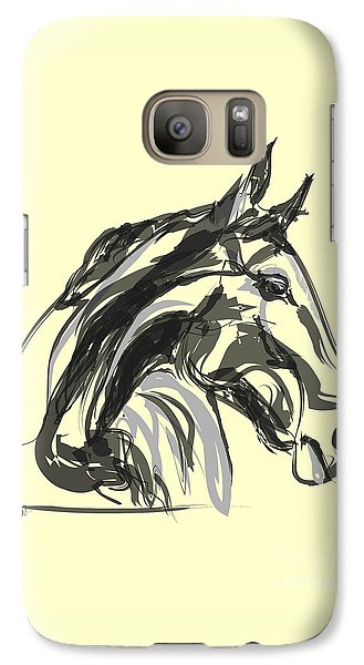 Galaxy Case featuring the painting horse - Apple digital by Go Van Kampen