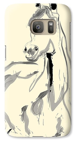 Galaxy Case featuring the painting Horse - Arab by Go Van Kampen