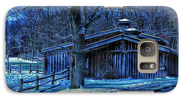 Galaxy Case featuring the photograph Horse Barn by Skip Tribby