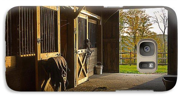 Horse Barn Sunset Galaxy S7 Case