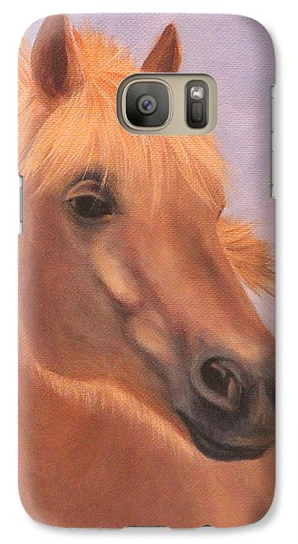 Galaxy Case featuring the painting Horse Close-up by Janet Greer Sammons