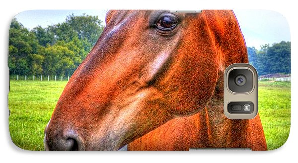 Galaxy S7 Case featuring the photograph Horse Closeup by Jonny D