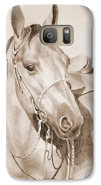 Galaxy Case featuring the drawing Horse Drawing by Eleonora Perlic