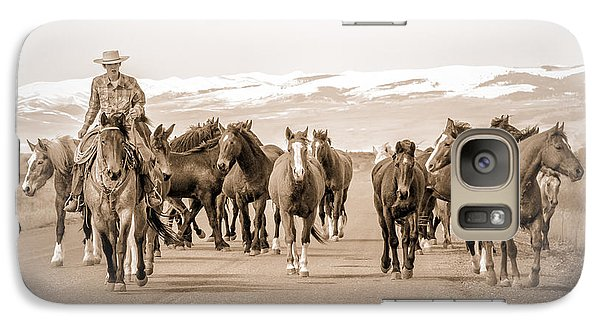 Galaxy Case featuring the photograph Horse Drive by Yeates Photography