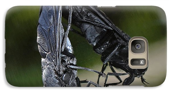 Galaxy Case featuring the photograph Horse Fly by DigiArt Diaries by Vicky B Fuller
