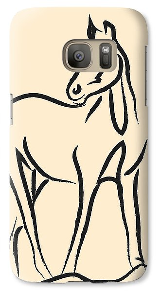 Galaxy Case featuring the painting Horse - Grace by Go Van Kampen