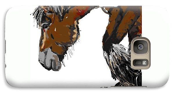 Galaxy Case featuring the painting horse - Guus by Go Van Kampen