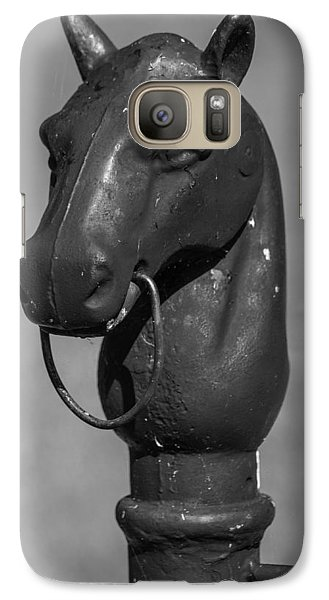 Galaxy Case featuring the photograph Horse Head Hitching Post by Robert Hebert