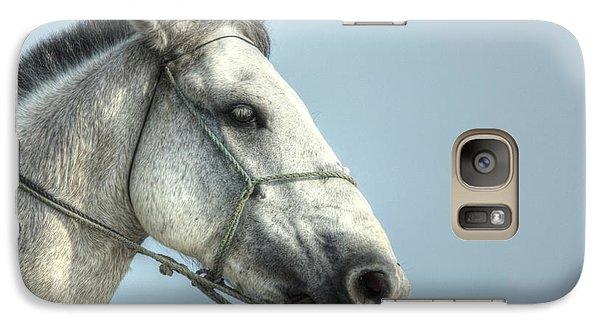 Galaxy Case featuring the photograph Horse Head-shot by Eti Reid