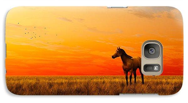 Galaxy Case featuring the digital art Horse In A Field... by Tim Fillingim