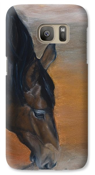 Galaxy Case featuring the painting horse - Lily by Go Van Kampen