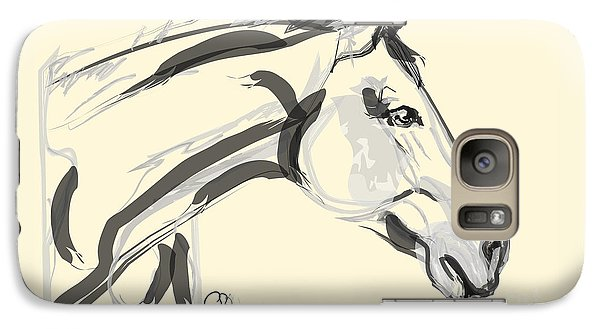 Galaxy Case featuring the painting Horse - Lovely by Go Van Kampen