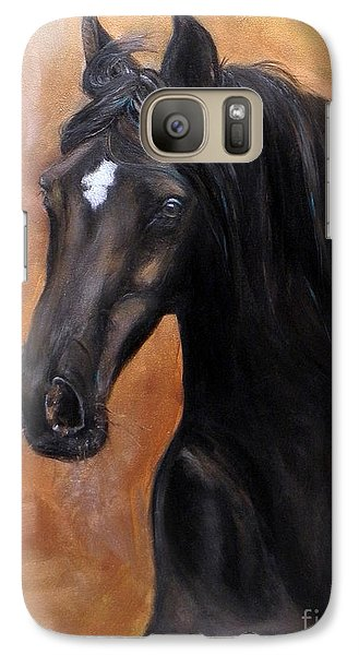 Galaxy Case featuring the painting Horse - Lucky Star by Go Van Kampen