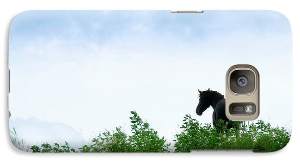 Galaxy Case featuring the photograph Horse On The Hill by Joan Davis