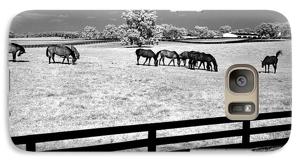 Galaxy Case featuring the photograph Horse Pasture Infrared by Martin Konopacki