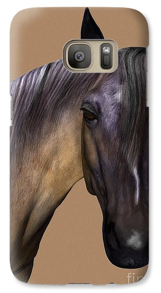 Galaxy Case featuring the digital art Horse Portrait by Walter Colvin