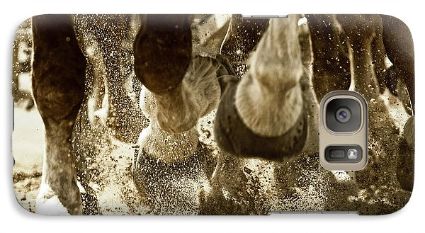 Galaxy Case featuring the photograph Horse Power And Teamwork by Lincoln Rogers