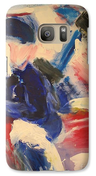 Galaxy Case featuring the painting Horse- Race Competition On Snow St Moritz  by Fereshteh Stoecklein