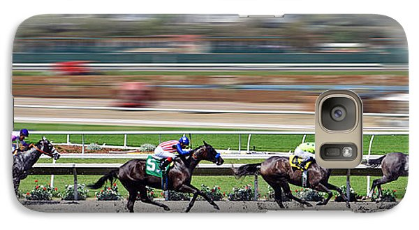 Galaxy Case featuring the photograph Horse Racing by Christine Till