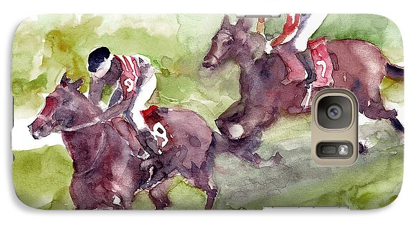 Galaxy Case featuring the painting Horse Racing by Faruk Koksal