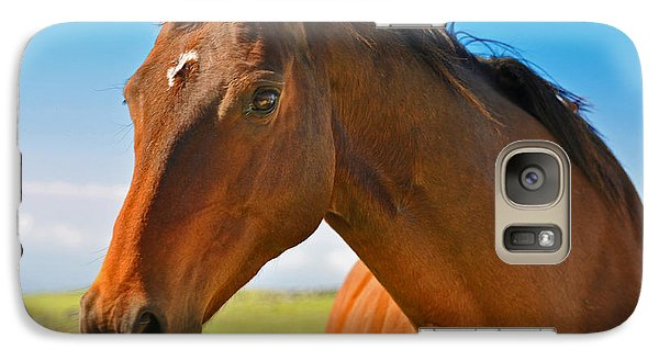 Galaxy Case featuring the photograph Horse by Sabine Edrissi