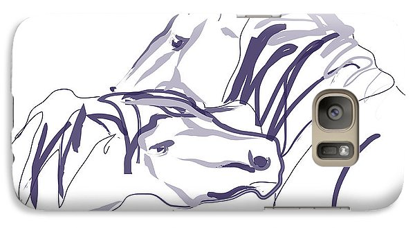 Galaxy Case featuring the painting Horse - Together 10 by Go Van Kampen