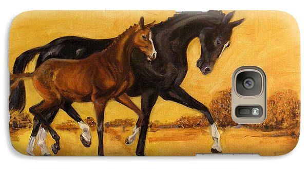 Galaxy Case featuring the painting Horse - Together 2 by Go Van Kampen