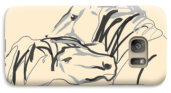 Galaxy Case featuring the painting Horse - Together 4 by Go Van Kampen