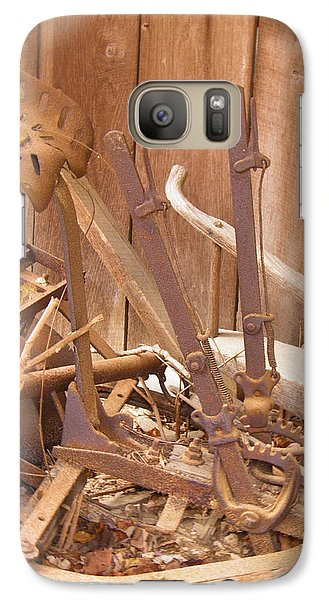 Galaxy Case featuring the photograph Horsedrawn Disc by Nick Kirby