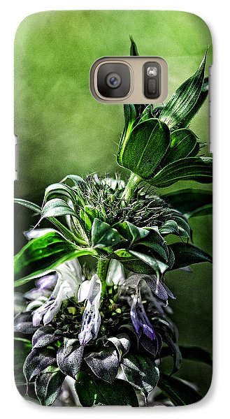 Galaxy Case featuring the photograph Horsemint by Karen Slagle