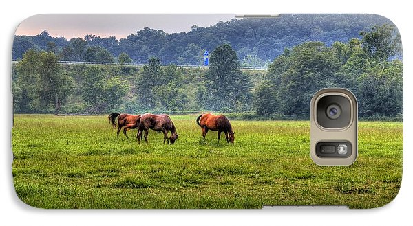 Galaxy S7 Case featuring the photograph Horses In A Field 2 by Jonny D
